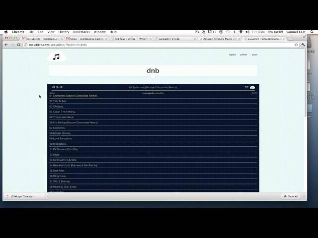 S3audible Cloud Music Player